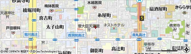 京都府京都市下京区岩戸山町周辺の地図