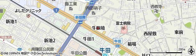 愛知県知立市牛田町(牛田境)周辺の地図