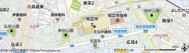 愛知県知立市広見周辺の地図