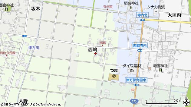 〒677-0023 兵庫県西脇市西嶋の地図