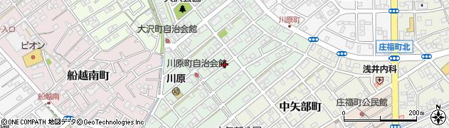 静岡県静岡市清水区川原町周辺の地図