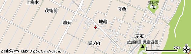 愛知県豊田市畝部東町(堀ノ内)周辺の地図