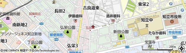 愛知県知立市長篠町(新田裏)周辺の地図