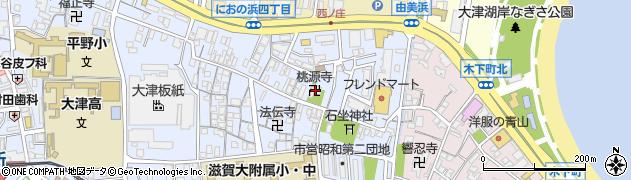 桃源禅師周辺の地図