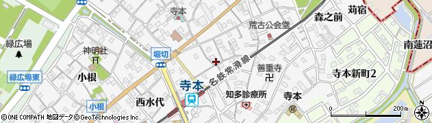 愛知県知多市八幡(蔵池)周辺の地図