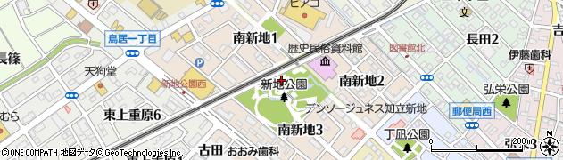 愛知県知立市南新地周辺の地図