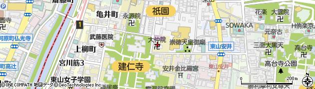 大中院周辺の地図
