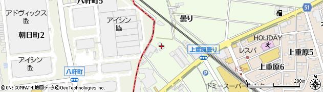 愛知県知立市上重原町(曇り)周辺の地図