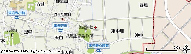 愛知県知立市来迎寺町周辺の地図