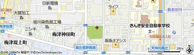京都府京都市右京区梅津南広町周辺の地図