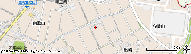 愛知県安城市里町(北歌口)周辺の地図