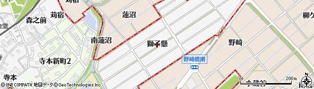 愛知県知多市八幡(獅子懸)周辺の地図