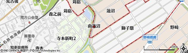 愛知県東海市養父町(南蓮沼)周辺の地図