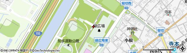 愛知県知多市緑町周辺の地図