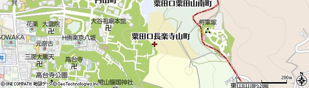 京都府京都市東山区粟田口長楽寺山町周辺の地図