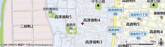 愛知県刈谷市高津波町周辺の地図
