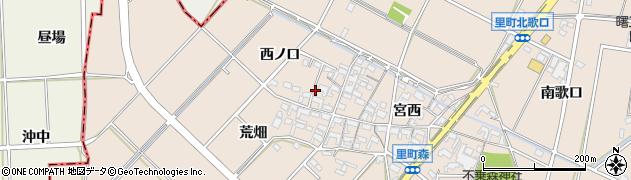 愛知県安城市里町(西ノ口)周辺の地図