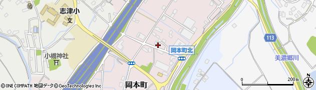 滋賀県草津市岡本町周辺の地図