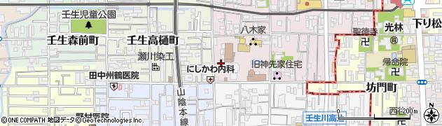 京都府京都市中京区壬生梛ノ宮町周辺の地図