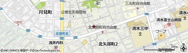 静岡県静岡市清水区北矢部町周辺の地図
