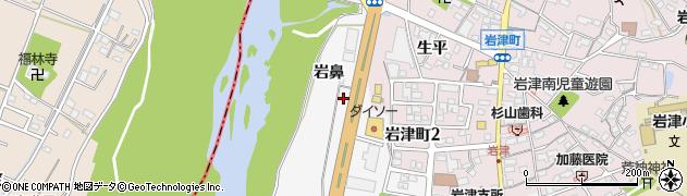 愛知県岡崎市西蔵前町(岩鼻)周辺の地図