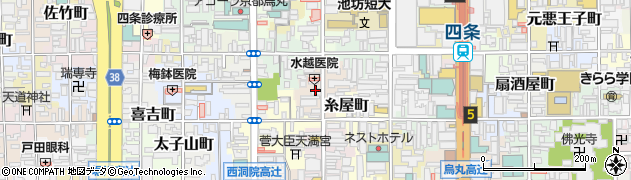京都府京都市下京区船鉾町周辺の地図