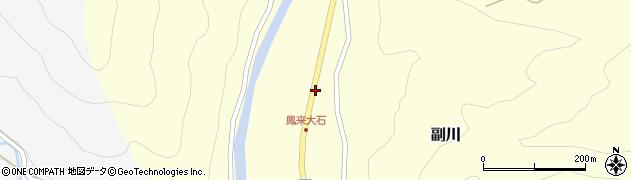 愛知県新城市副川(土林)周辺の地図