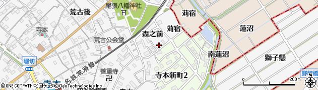 愛知県知多市八幡(森之前)周辺の地図