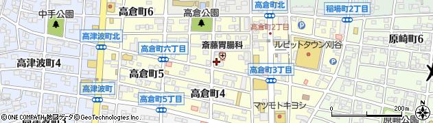 愛知県刈谷市高倉町周辺の地図