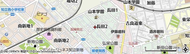 愛知県知立市長田周辺の地図