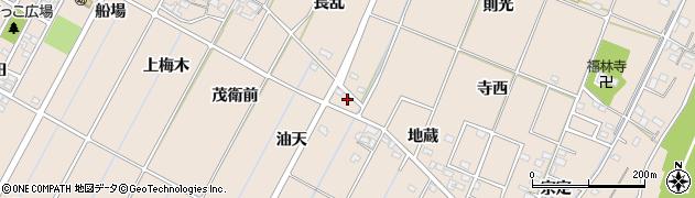 愛知県豊田市畝部東町(油天)周辺の地図