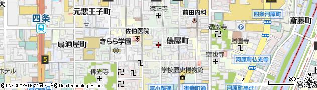 京都府京都市下京区塗師屋町周辺の地図