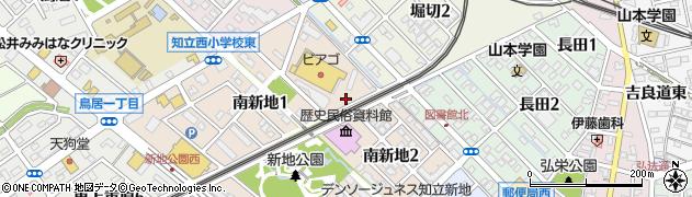 愛知県知立市新地町(番割)周辺の地図