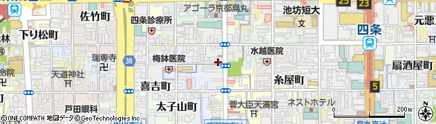 京都府京都市下京区綾西洞院町周辺の地図