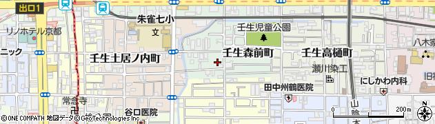 京都府京都市中京区壬生森前町周辺の地図