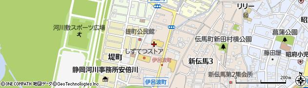 静岡県静岡市葵区伊呂波町周辺の地図