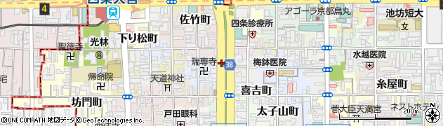 京都府京都市下京区綾堀川町周辺の地図