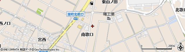 愛知県安城市里町(南歌口)周辺の地図