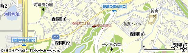 愛知県大府市森岡町周辺の地図