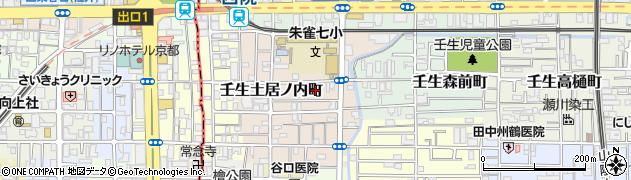 京都府京都市中京区壬生東土居ノ内町周辺の地図