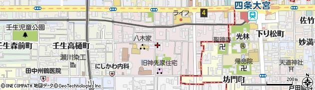 京都府京都市中京区壬生賀陽御所町周辺の地図