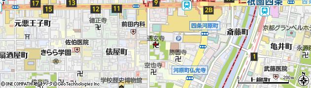 透玄寺周辺の地図