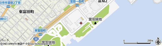 三重県四日市市富双周辺の地図