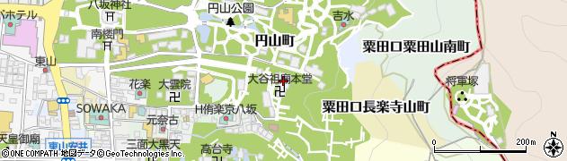 大谷祖廟(東大谷)周辺の地図