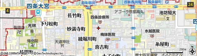 京都府京都市下京区西綾小路西半町周辺の地図