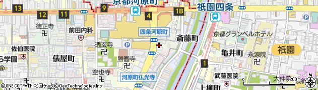 京都府京都市下京区稲荷町周辺の地図