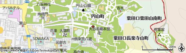 京都府京都市東山区円山町周辺の地図