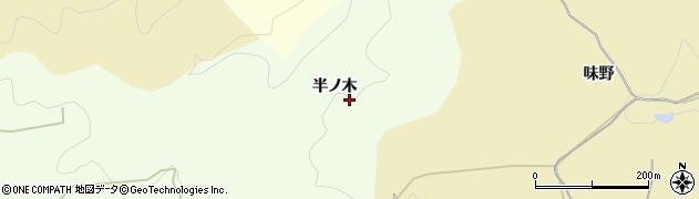 愛知県岡崎市滝町(半ノ木)周辺の地図