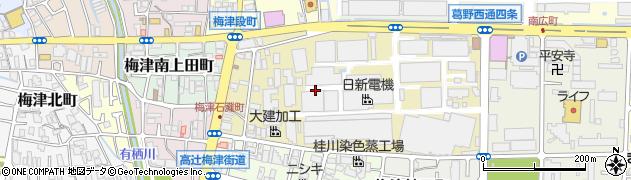 京都府京都市右京区梅津高畝町周辺の地図