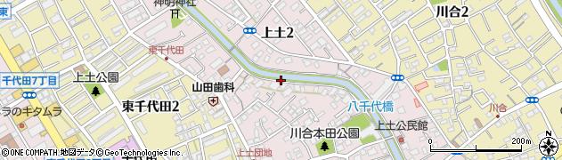 静岡県静岡市葵区上土周辺の地図
